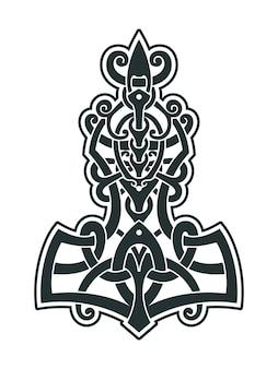 De hamer van mjollnir thor is een amulet van vikingen