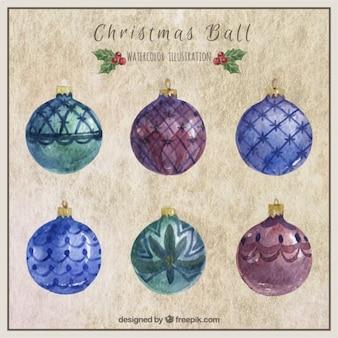 De hand geschilderd kerstballen collectie