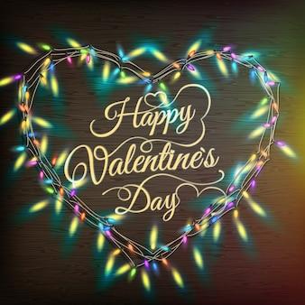 De hartvormige krans van valentine.