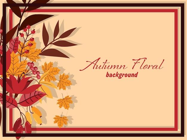 De herfst bloemenachtergrond met de herfstbladeren