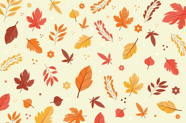 De herfstbladeren vlak ontwerp als achtergrond