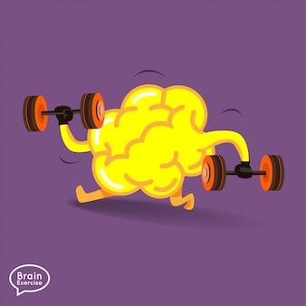 De hersenenfitness van illustratiesconcept