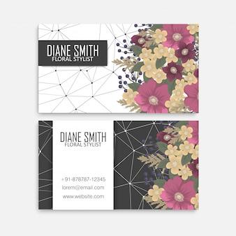 De hete roze bloemen van de visitekaartjes van de bloem