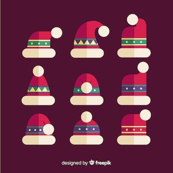 De hoed van de kerstman met patroonreeks