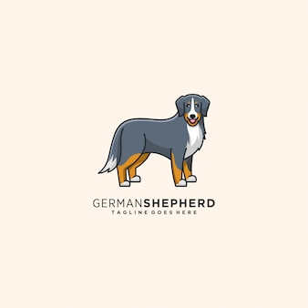 De hond stelt illustratie leuke stijl