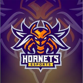 De hornet bee esport logo sjabloon
