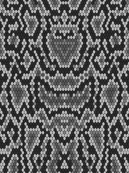 De huidtextuur van de slangpython. naadloze patroon zwart op een witte achtergrond.