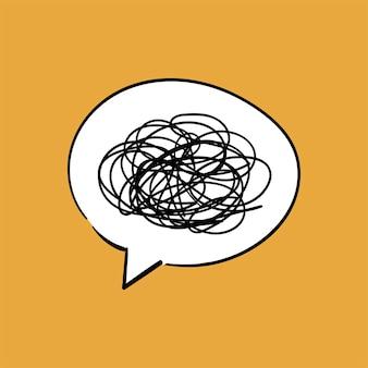 De illustratie van de handtekening van communicatie concept