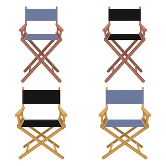 De illustratie van de regisseurstoel op witte achtergrond wordt geïsoleerd die