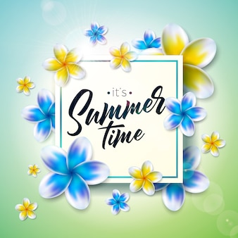De illustratie van de zomertijd