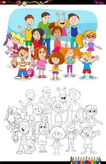 De illustratie van het beeldverhaal van het kleurende boek van kinderenstigmen