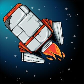 De illustratie van het raketschip