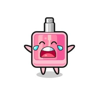 De illustratie van huilende parfum schattige baby, schattig stijlontwerp voor t-shirt, sticker, logo-element