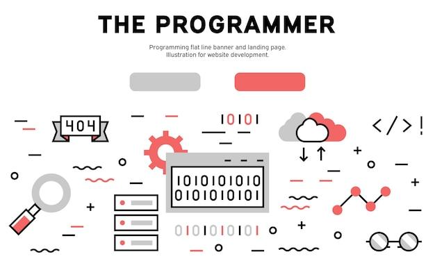 De infographic van het programmeerweb