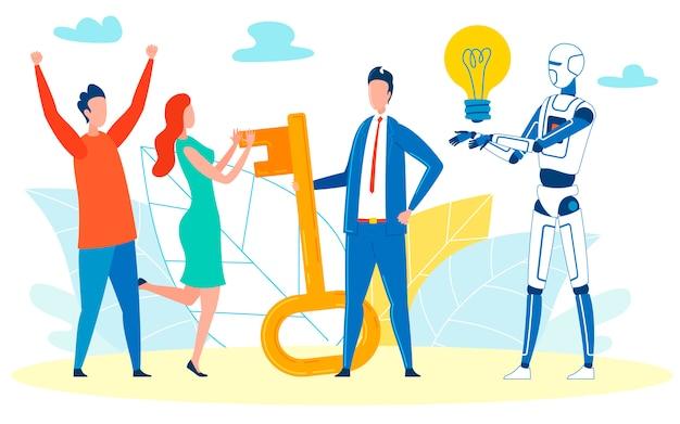 De integratie van programma's tot bedrijf vieren