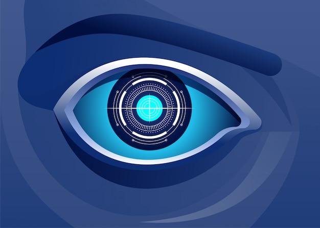 De intelligentieillustratie van het digitale technologie kunstmatige oog