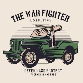 De jeep van de oorlogsjager
