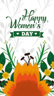 De kaart van de gelukkige vrouw dag