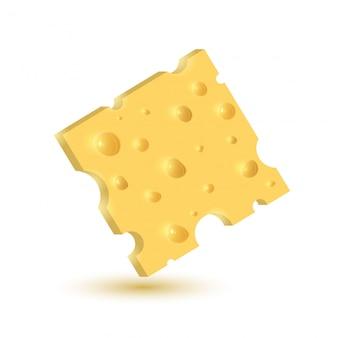 De kaas. illustratie geïsoleerd.