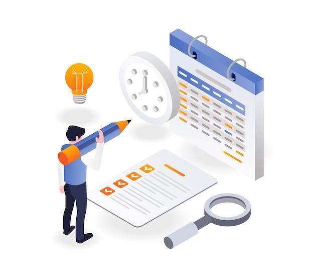 De kalender markeren voor zakelijke werkplannen