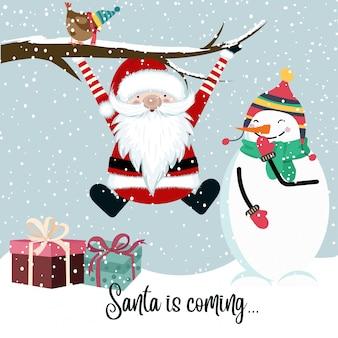 De kerstman komt eraan