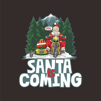 De kerstman komt illustratie