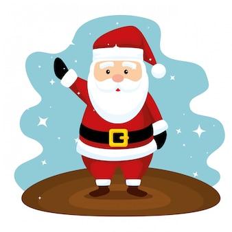 De kerstman om vrolijke kerstmis te vieren