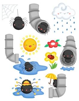 De kinderrijmpjes itsy bitsy spider