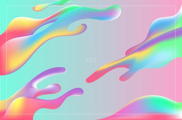 De kleurrijke abstracte vloeibare achtergrond van de vormengradiënt