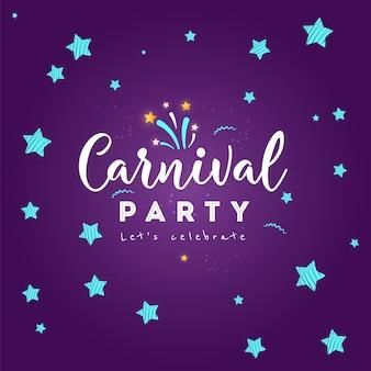 De kleurrijke affiche van carnaval. vectorillustratie