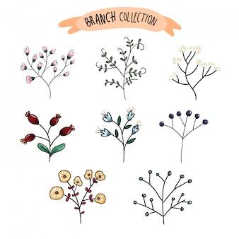 De kleurrijke bloem en de tak kunnen voor huwelijksuitnodiging gebruiken