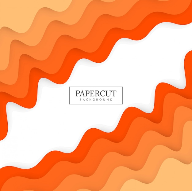 De kleurrijke het ontwerpillustratie van de papercut kleurrijke golf