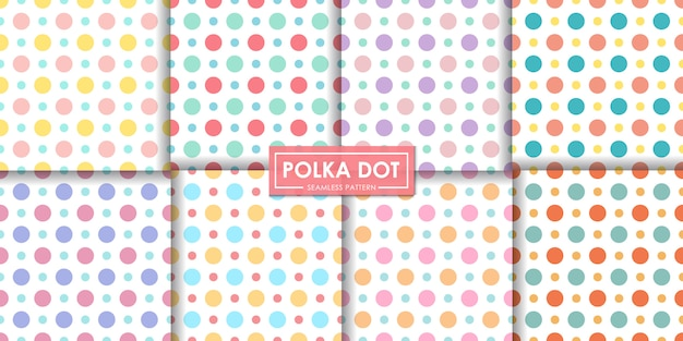 De kleurrijke reeks van het stip naadloze patroon, abstracte achtergrond, decoratief behang.