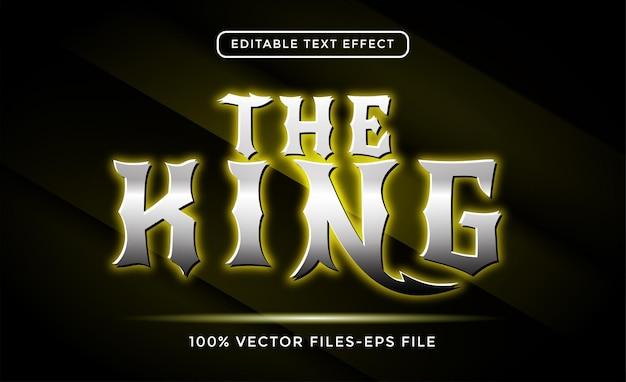 De koning bewerkbare teksteffect premium vectoren