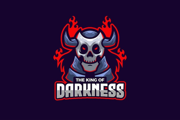 De koning van de duisternis e-sport logo sjabloon