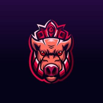 De koning van varkens logo-ontwerp