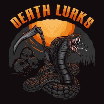 De koningscobra-slang dodelijk de moordenaarillustratie