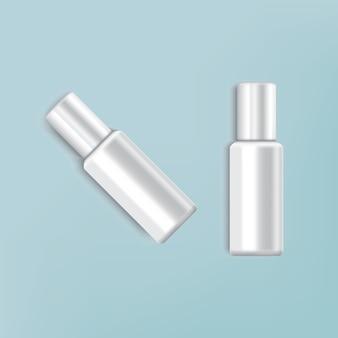 De kosmetische kleur van de pakkethemel voor verfraait op grijze achtergrond
