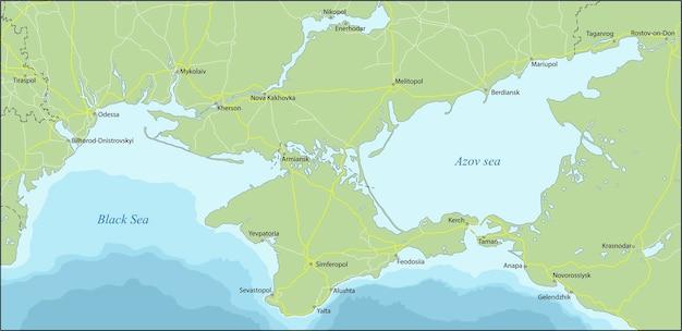 De krim is een schiereiland aan de noordkust van de zwarte zee