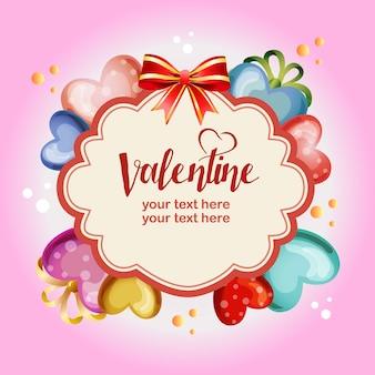 De kroon gekleurde sjabloon van de valentijnskaartliefde