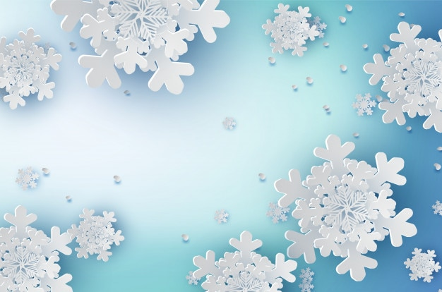 De kunst van het document van sneeuwvlokken voor wintertijdachtergrond