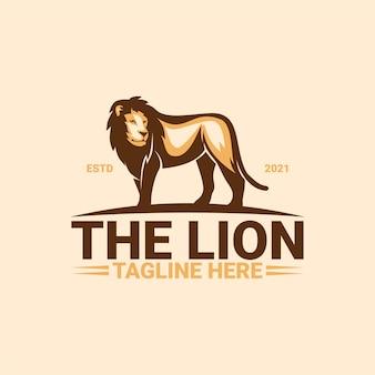 De leeuw logo sjabloon