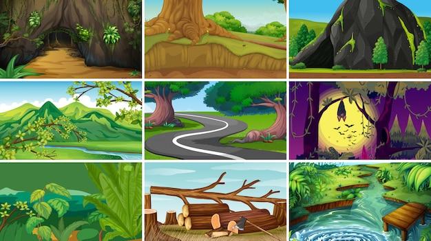 De lege, lege scène of de achtergrond van de landschapsaard
