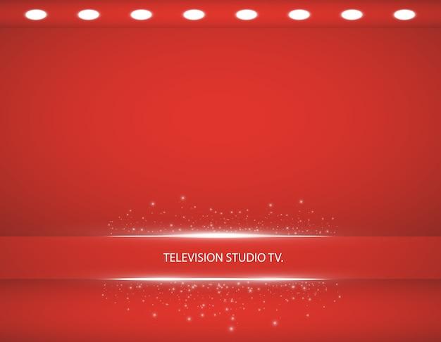 De lege showcase van het roze kleurenproduct. studio kamer achtergrond. gebruikt als achtergrond voor het weergeven van uw product,.