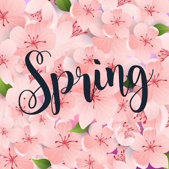 De lente. de lente doorbladert op de achtergrond.