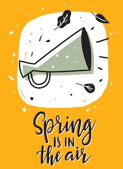 De lente hangt in de lucht, kaart