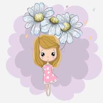 De lente van het meisje