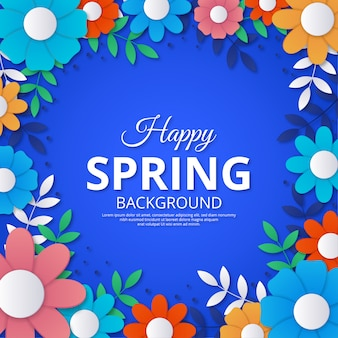 De lenteachtergrond in kleurrijk document stijlontwerp
