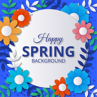 De lenteachtergrond in kleurrijke document stijl