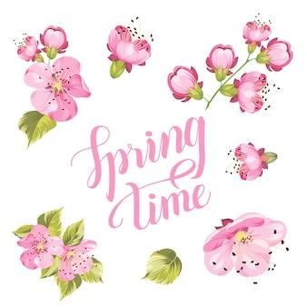 De lentetijd met sakura-bloemen